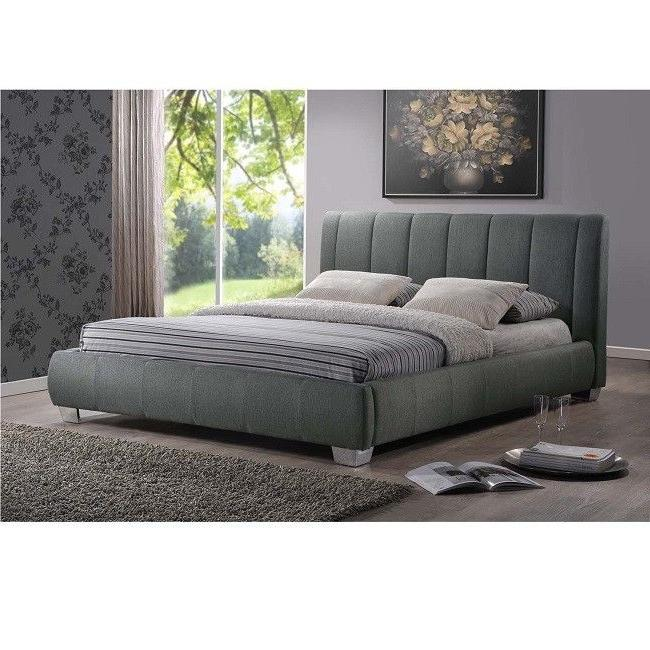 Queen Size Bed Frame Platform Upholstered Tufted Fabric Head