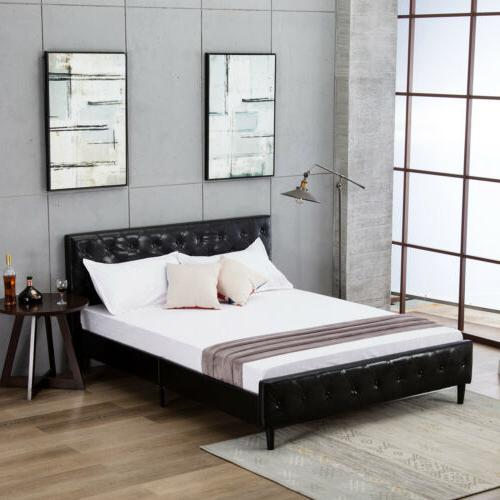 Full Size Metal Bed Frame Platform Headboard Furniture