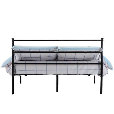 Queen Metal Frame Platform Leg Bedroom Furniture