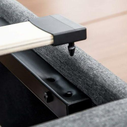 Queen Upholstered Platform Bed Frame