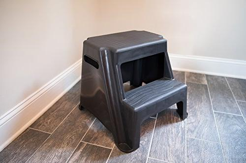 Pleasing Rubbermaid Rm P2 2 Step Molded Plastic Stool With Non Slip Dailytribune Chair Design For Home Dailytribuneorg