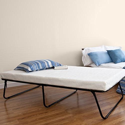 Zinus Traveler Premier Folding Twin Guest Bed, Plus Bonus St