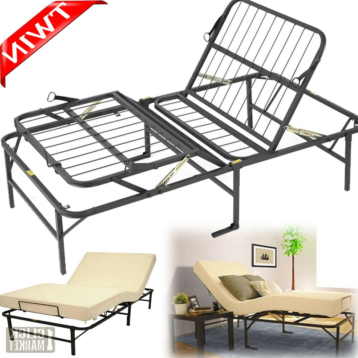 TWIN Size Adjustable Bed Frame Head Foot Lift Furniture Meta