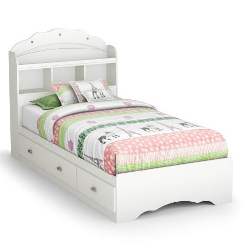 Tiara Twin Mate's Bed & Bookcase Headboard