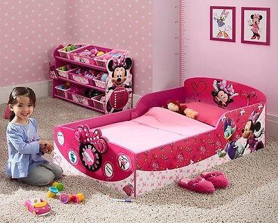 Toddler Bed Frame Disney Minnie Mouse Princess Girls Pink Ki