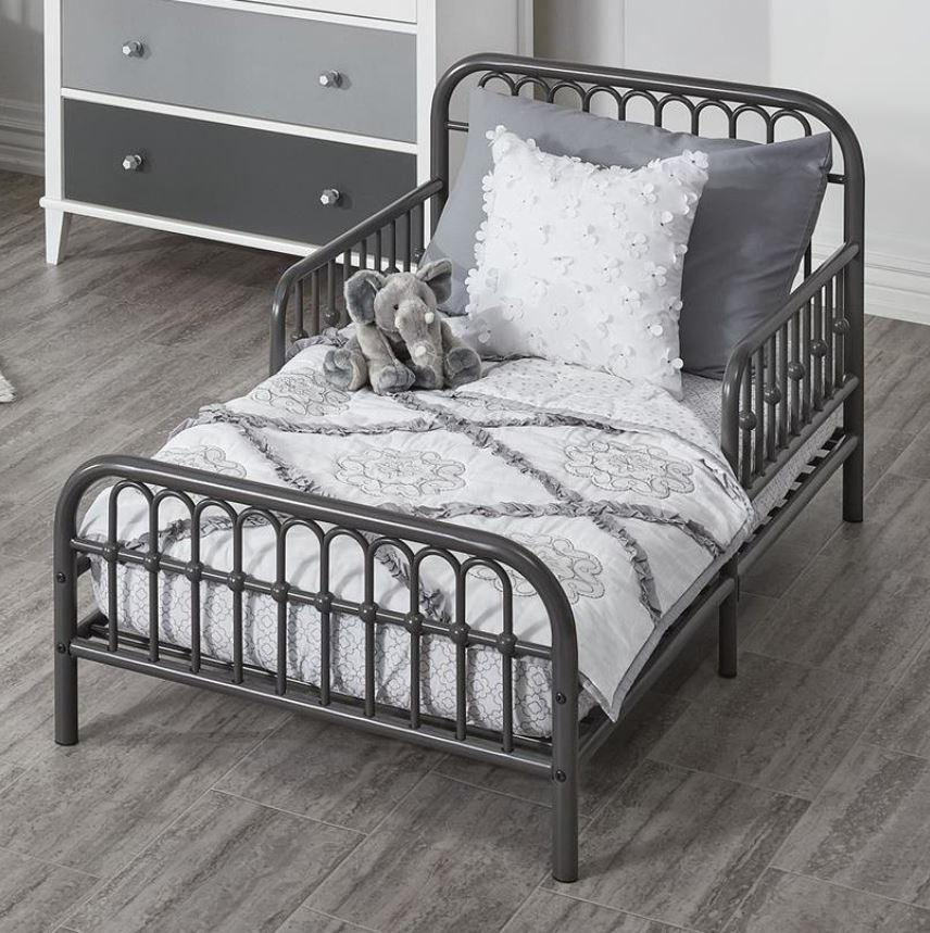 Toddler Bed Frame Rail Base Set Girls Boys Vintage Metal Chi