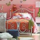 Twin Bed Frame Set Beds White Girls Kids Teens Metal Platfor