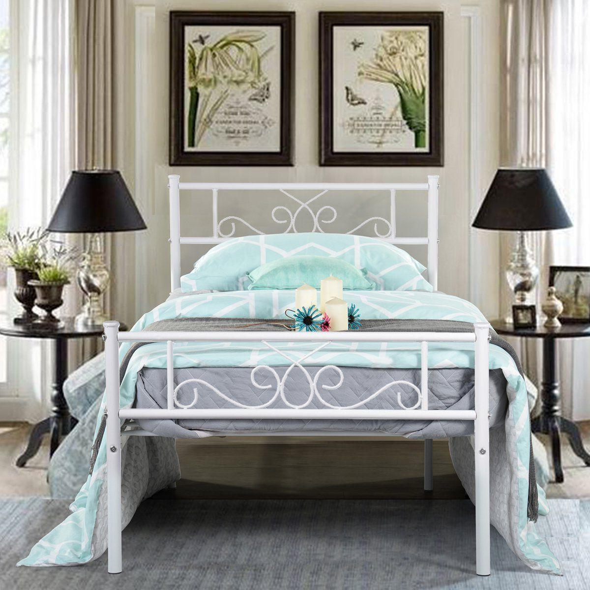 Twin Frame Mattress Headboard and