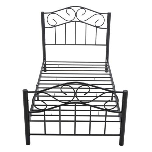 Twin Size Heavy Duty Metal Bed Headboard Footboard