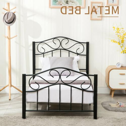 Twin Steel Heavy Headboard Footboard