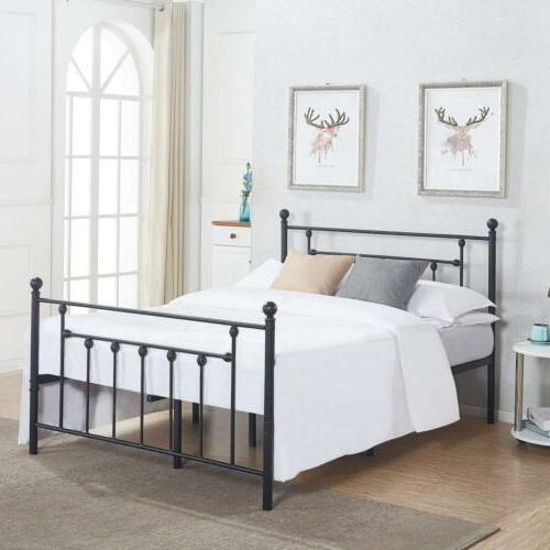 VECELO Premium Full Size Bed Frame, Metal Platform Mattress