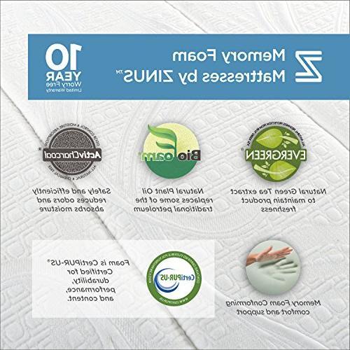 Zinus 8 Inch Memory Foam Queen Mattress