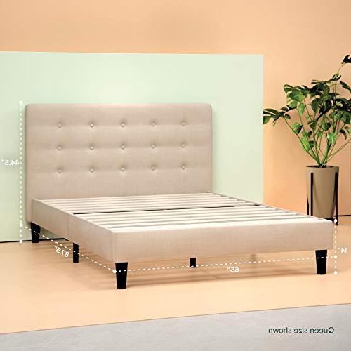 Zinus Upholstered Tufted Bed Wooden Queen
