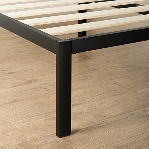 Zinus Mia Modern Studio 14 Platform Metal Frame Mattress / Wooden Slat Support With Headboard / Design Award