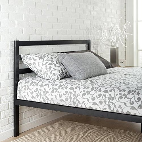 Zinus Modern 14 Inch Metal Bed Mattress Slat Headboard