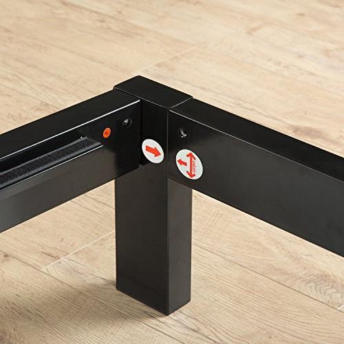 Zinus Mia Modern Studio 14 Inch Metal Bed Mattress / Slat Support Headboard / Design Award Winner, Queen