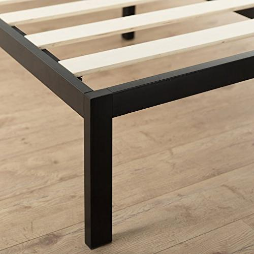 Zinus Studio 14 Inch Platform 3000 Metal Bed Frame / Mattress Foundation needed Slat Support Award King