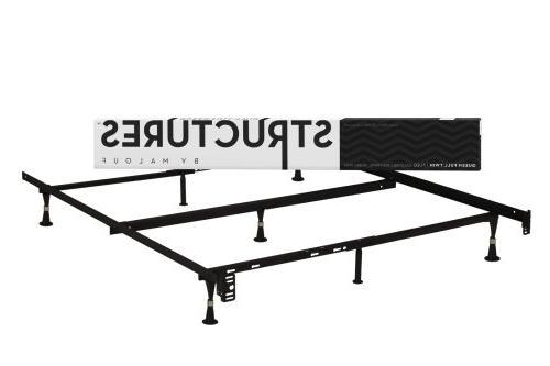 Adjustable Metal Bed Frame Home Bedroom Furniture Durable Un