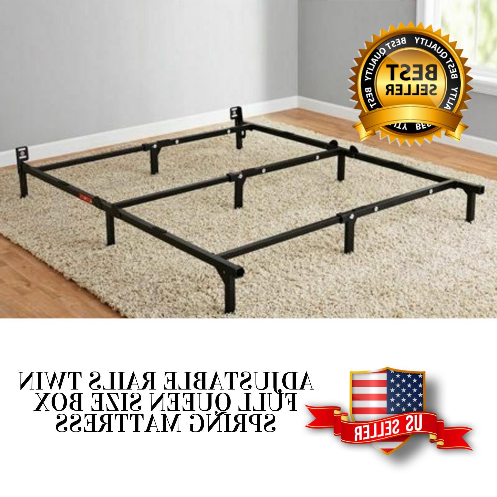 adjustable metal bed frame rails for full