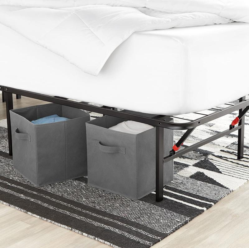 AmazonBasics Platform Bed with Tool-Free Assembly, No