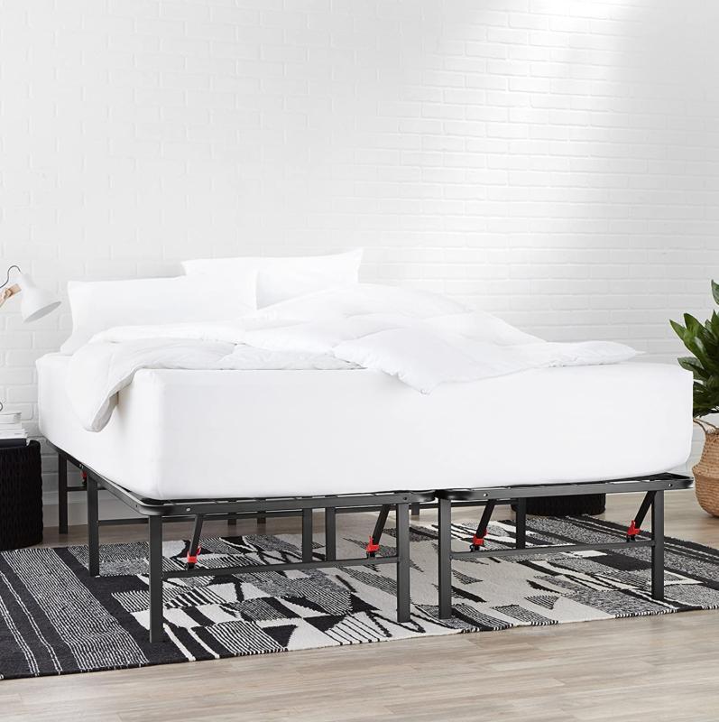 amazonbasics foldable 14 metal platform bed frame