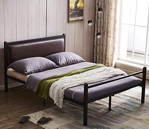 bed frame leather classic headboard