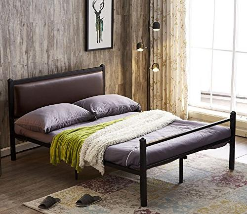 bed frame queen leather classic