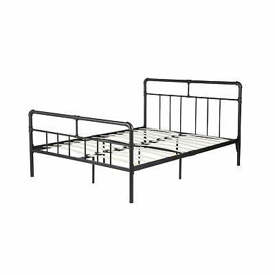 online store 59a09 75abe GreenForest Bed Frame Queen Size Metal Platform Bed with Wood Slats Support  M...