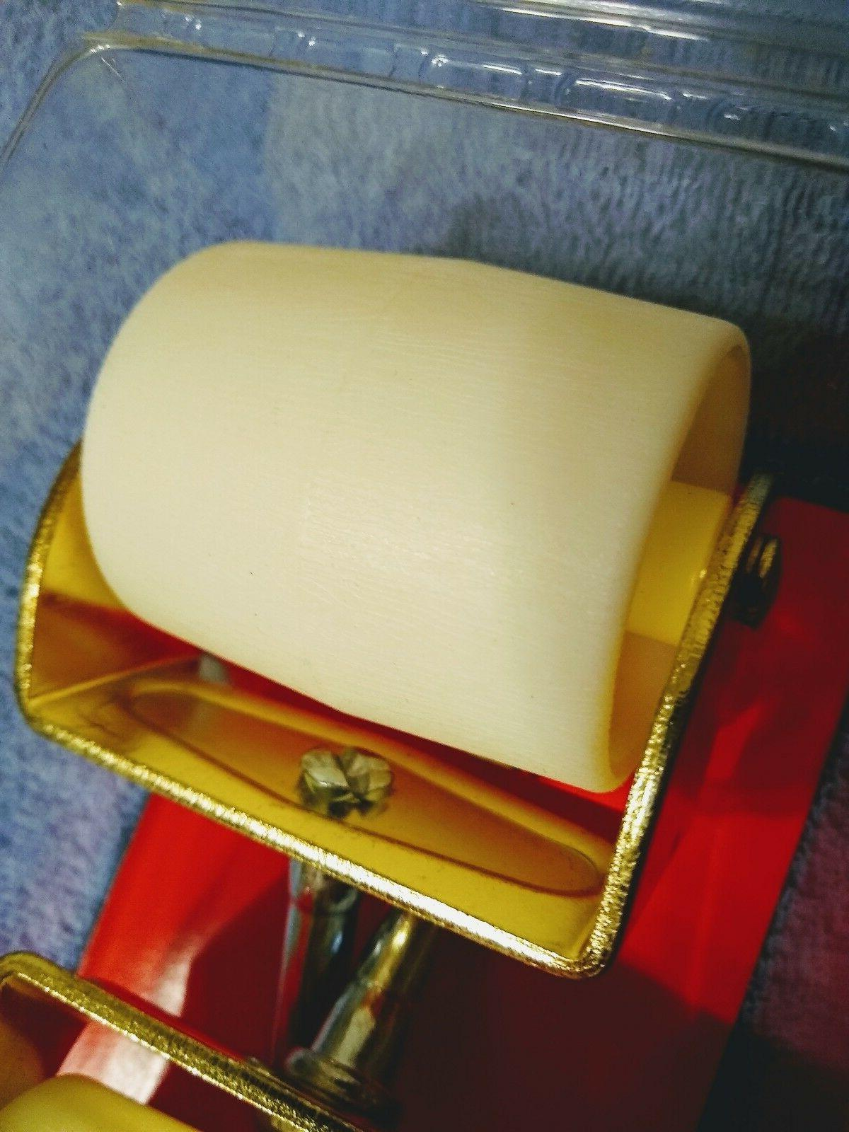 """Faultless Casters 2"""" pair rollers, brass color"""