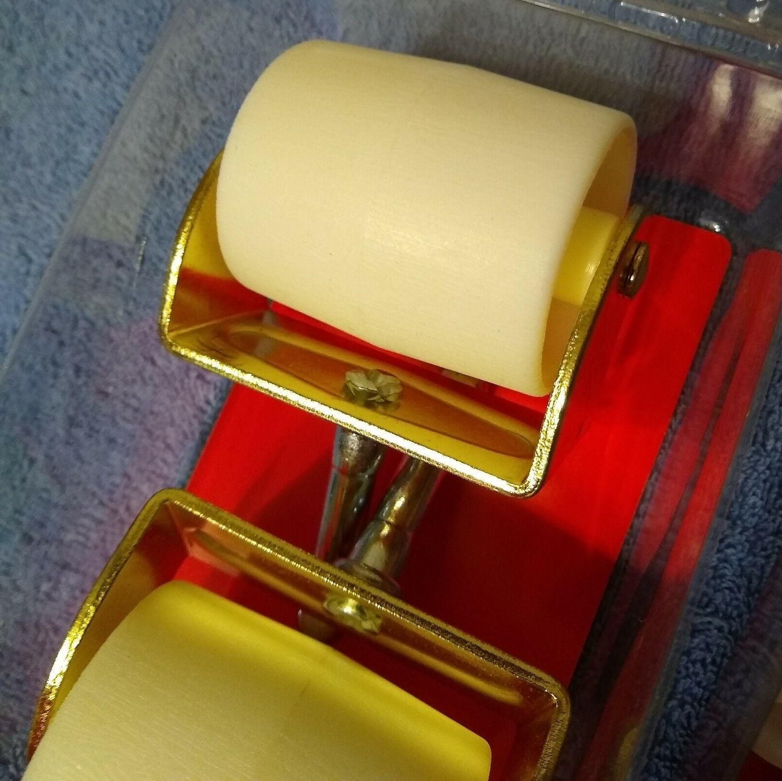 """Faultless Bed Casters 2"""" 2 pair white color frame"""
