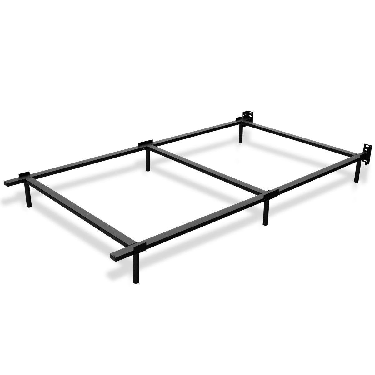 Black Metal Frame Center Support Bedroom