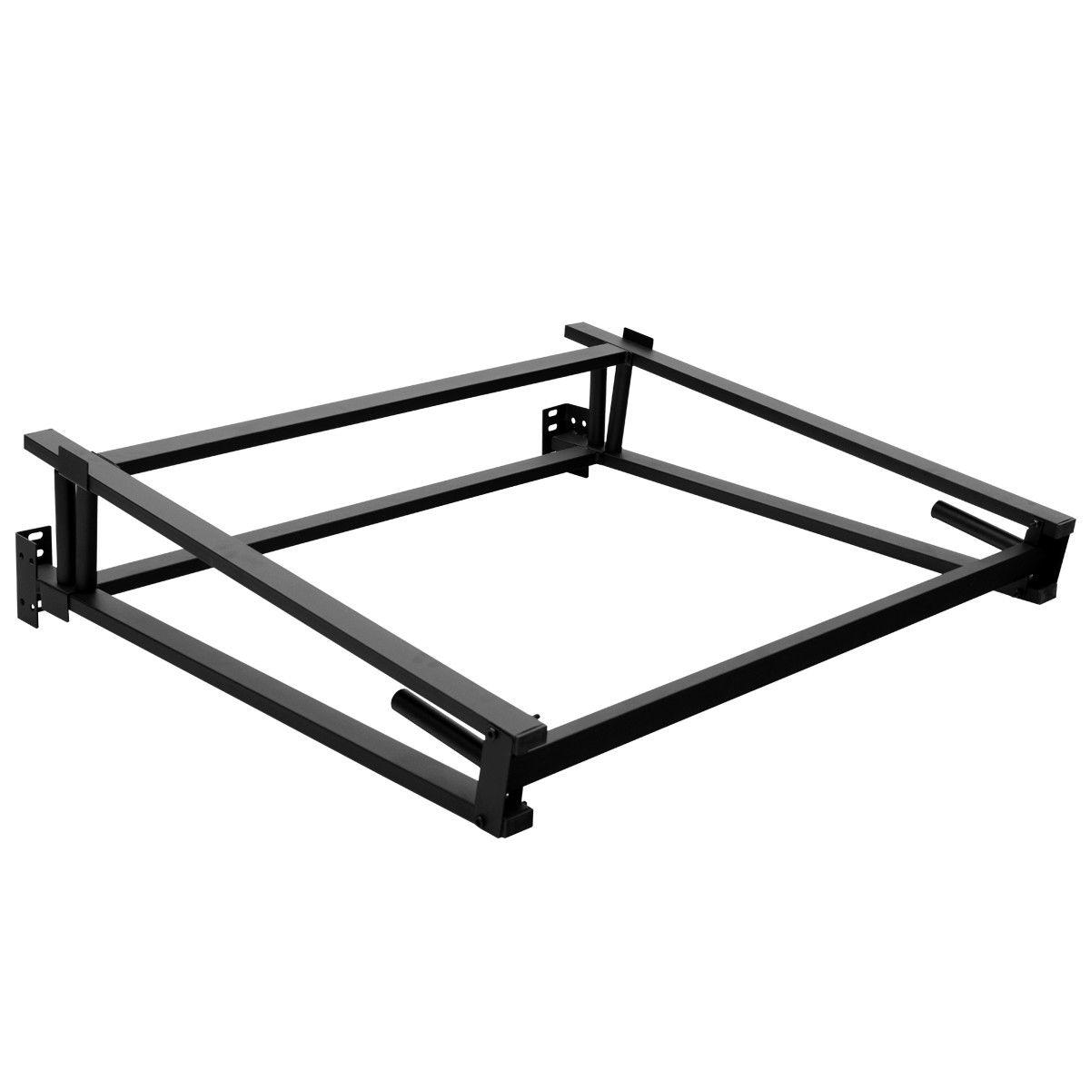 Black Duty Metal Support Bedroom Size