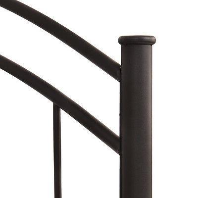Costway Black Queen Size Metal Mattress Platform Headboard Bedroom