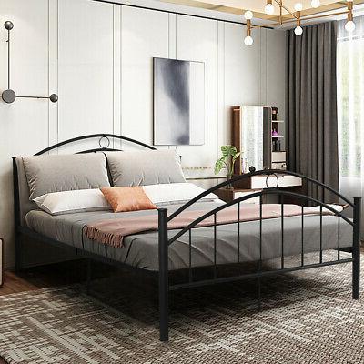 black queen metal bed frame