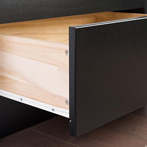Black Mate's Platform Storage Bed