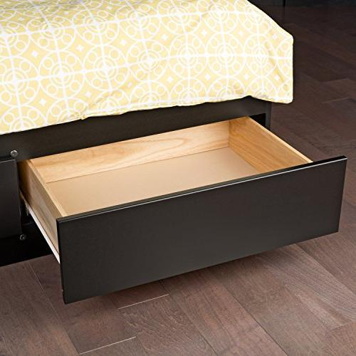 Black King Storage Bed with 6 Drawers