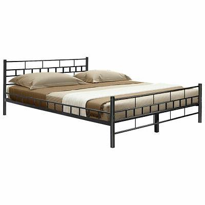 black queen size wood slats bed frame