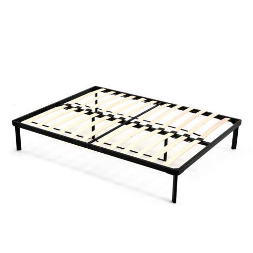 Full/King Size Metal Platform Bed Frame Wood Slat Mattress