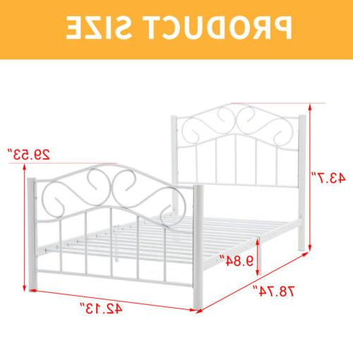 Twin Size Heavy Metal Frame Headboard Footboard
