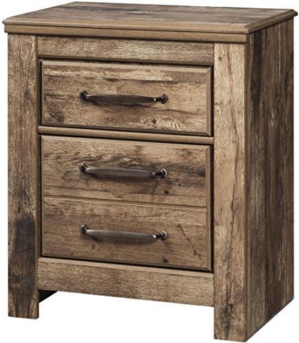 blaneville brown wood 2 drawer