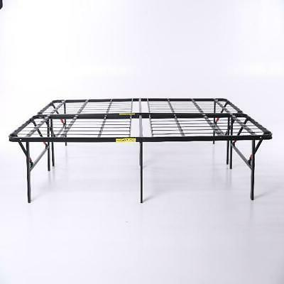 Queen Bed Frame Foldable 14 Inch Metal Duty