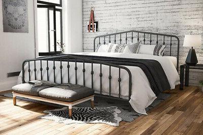 Novogratz Metal Bed, Modern Design, -