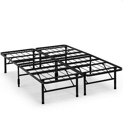 SmartBase Bed Frame Steel 14 Tall Under Bed Storage Twin Ful