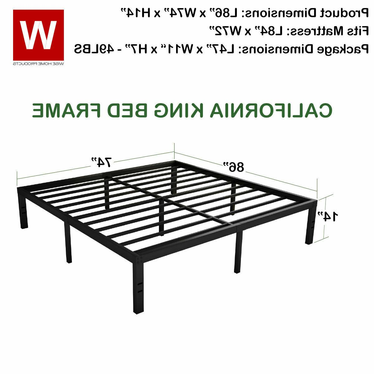 CAL King Heavy Steel Bed Frame Cali King Bed