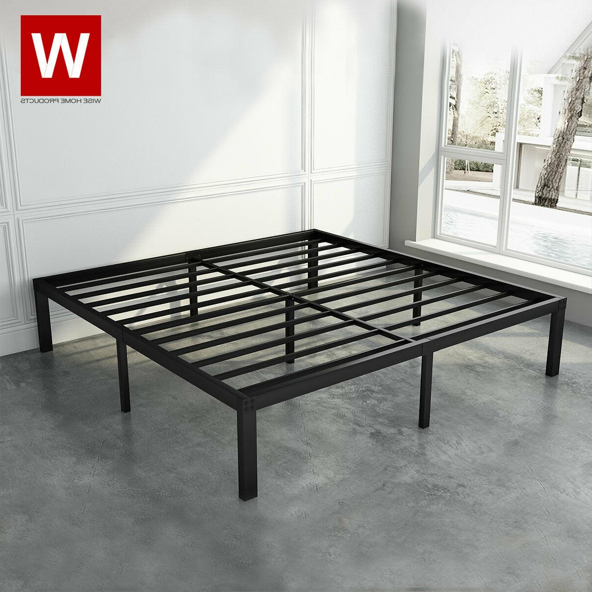 """CAL King Duty Steel Bed Frame Cali King Size Bed - Height 14"""""""
