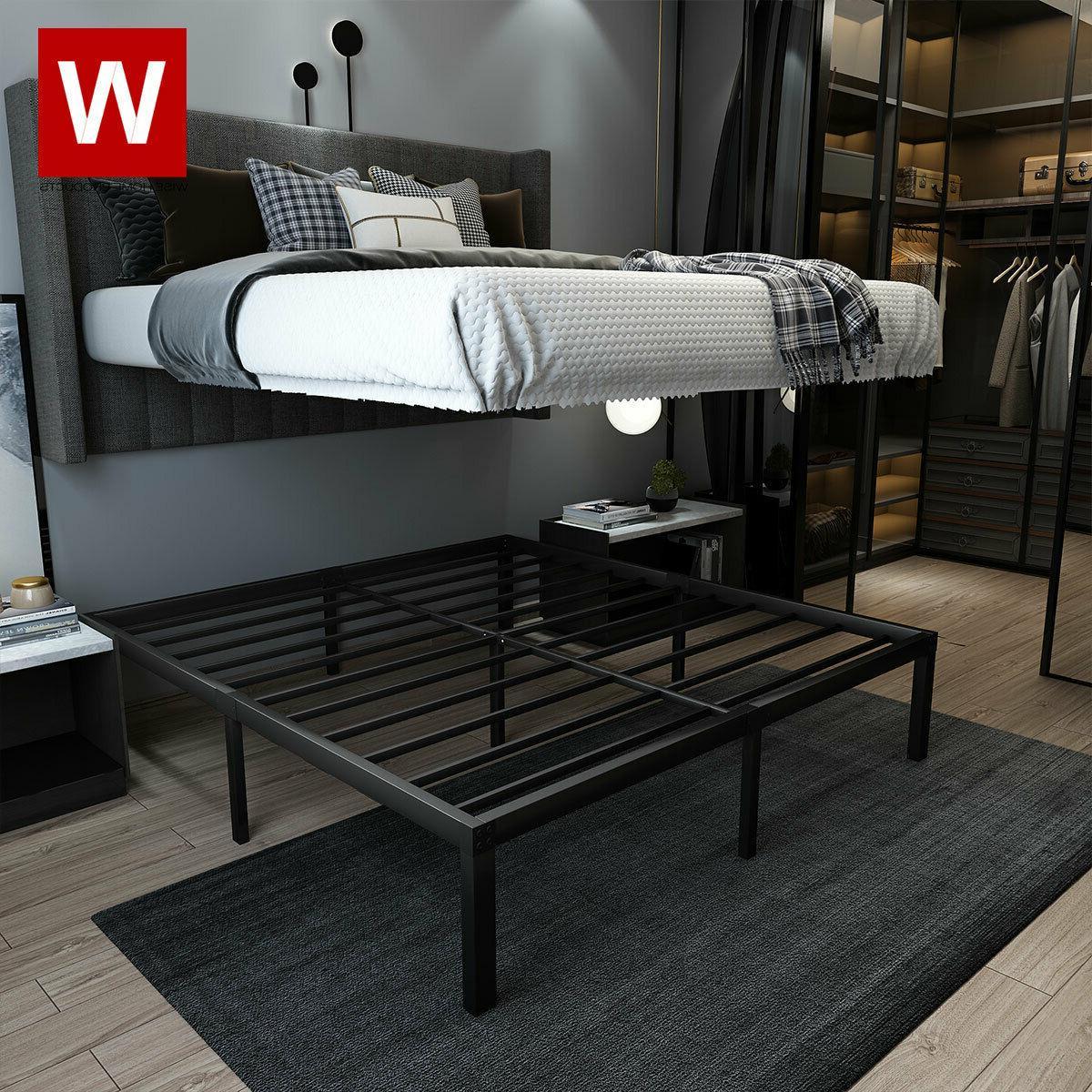 cal king heavy duty steel bed frame