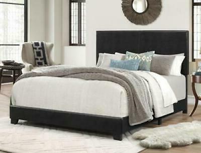 California King Size Platform Bed Frame w/ Headboard Upholst