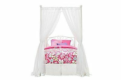 Princess Bed Furniture Metal Girls Kids Twin White