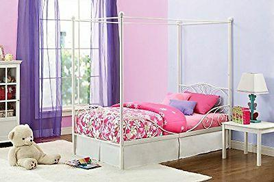 Princess Bed Frame Canopy Furniture Girls Bedroom Kids Twin New