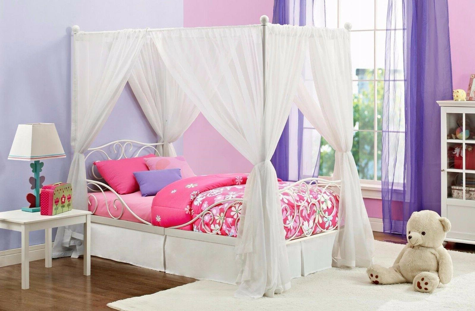 canopy furniture metal girls bedroom